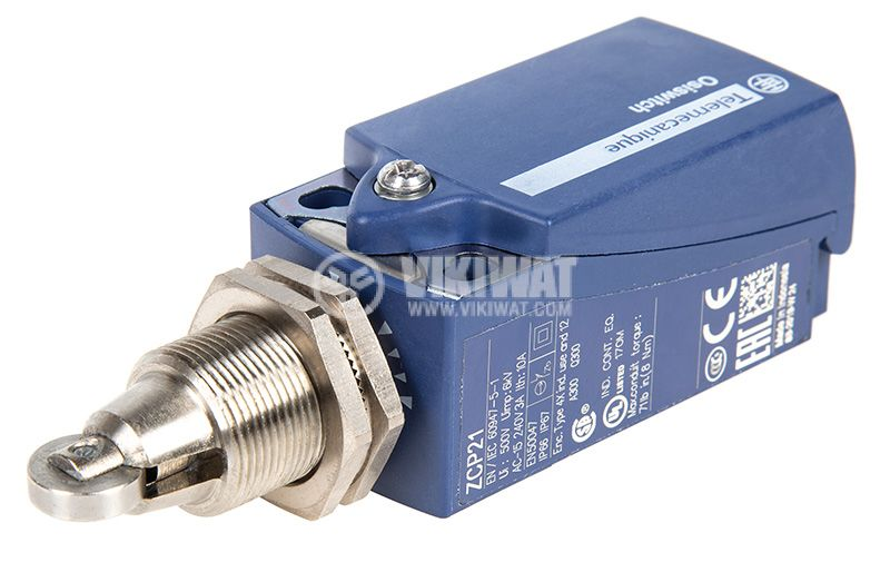 Limit switch 3A/240VAC, NO+NC, with spring return, roller  - 3