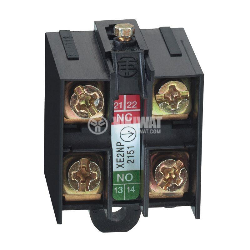 Спомагателен контактен блок XE2NP2151, 10A/300V, SPDT, NO+NC