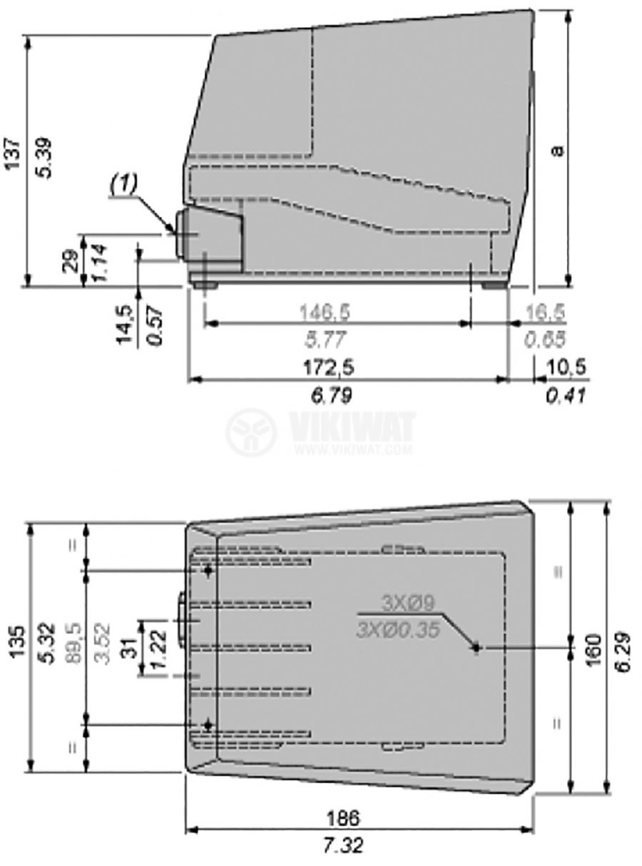 Крачен бутон XPEM611 SPST-NOx2+SPST-NCx2 3A/240V - 2