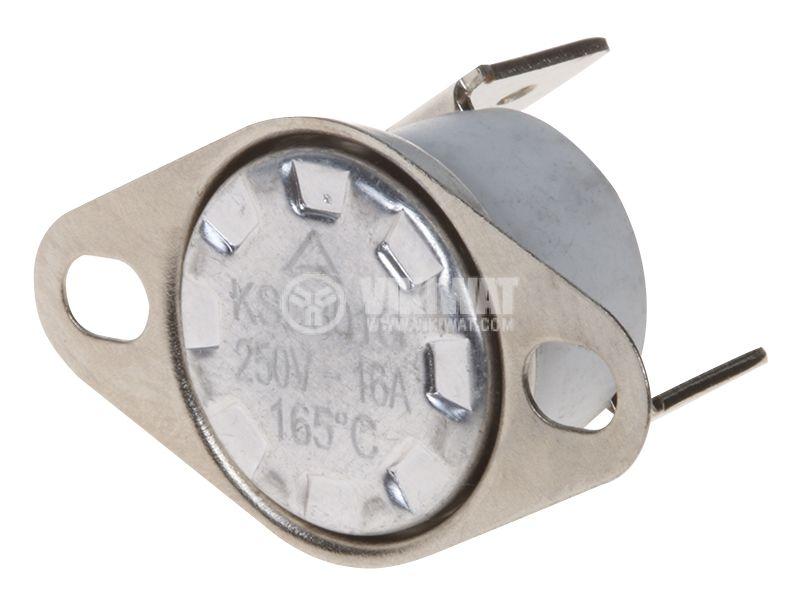 Биметален термостат автоматичен, KSD301G, 165°C, NC, 16A/250VAC  - 1