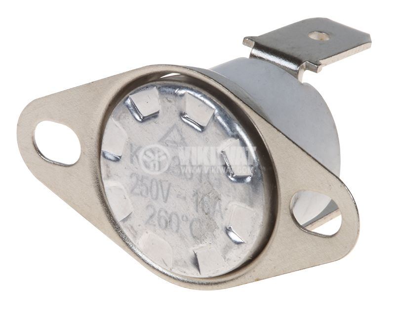 Биметален термостат автоматичен, KSD301G, 260°C, NC, 16A/250VAC  - 1