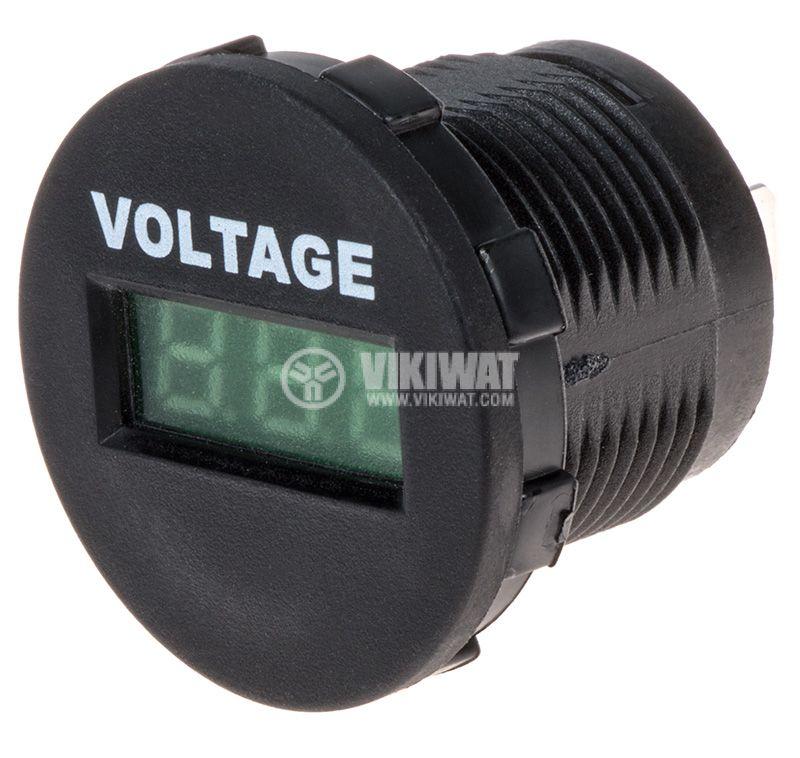 Цифров волтметър 6~33V, DC, A25-1-BB3-G - 1