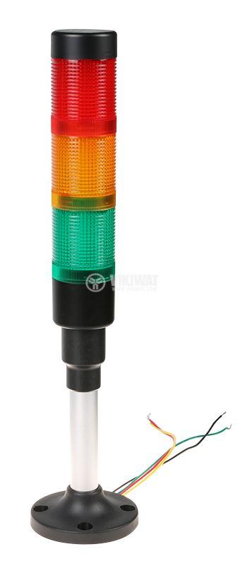 Сигнална колона 24V червен/жълт/зелен цвят - 1