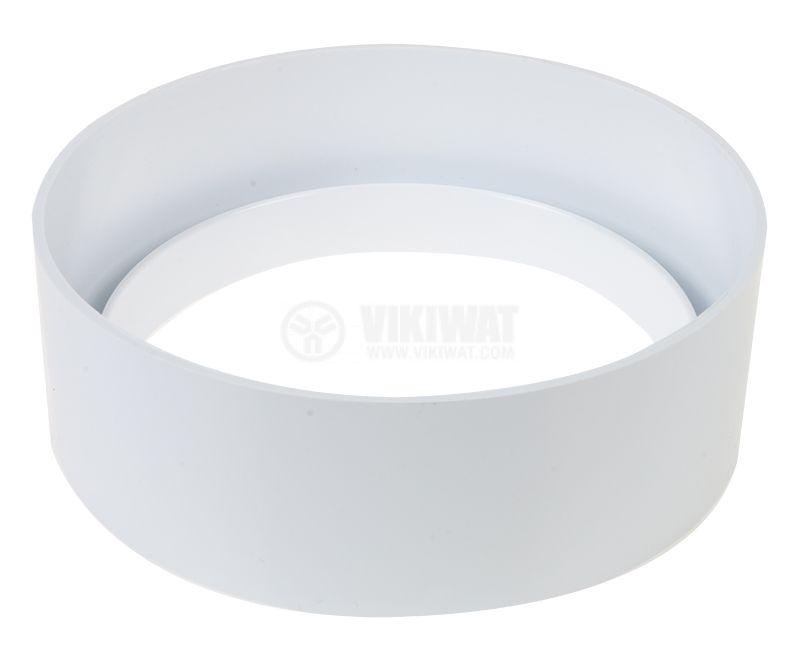 Преходен пръстен за вентилатори за баня, монтажен елемент, ф118x40mm  - 1