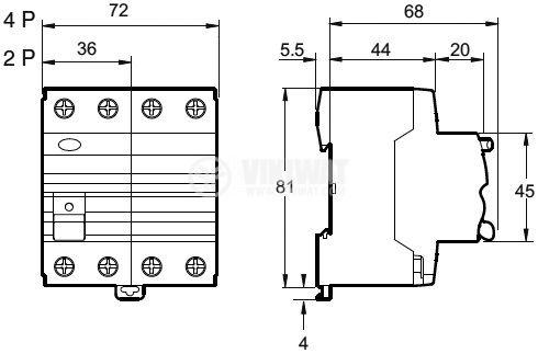 Дефектнотокова защита 400V 40A 30mA - 2