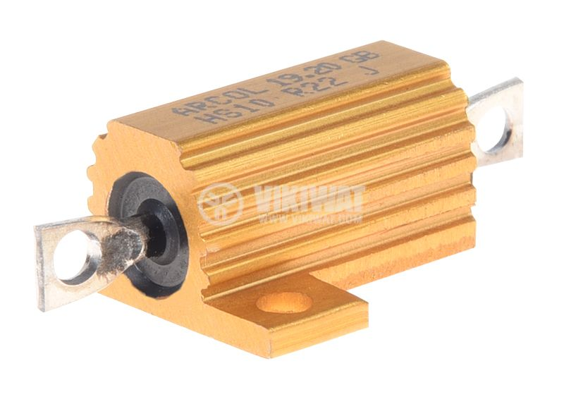 Резистор HS10-0R22J 220mOhm 10W ±5% жичен с радиатор - 1