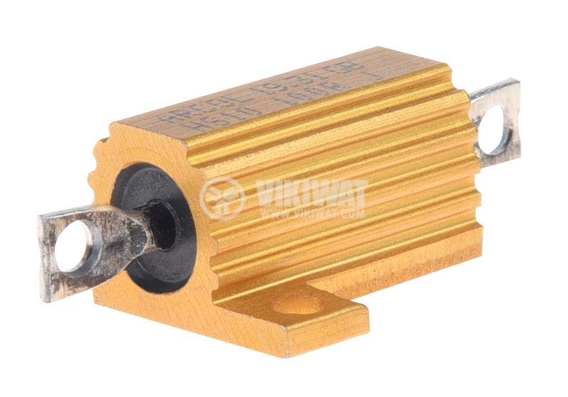 Резистор HS10-100RJ 100Ohm 10W ±5% жичен с радиатор - 1