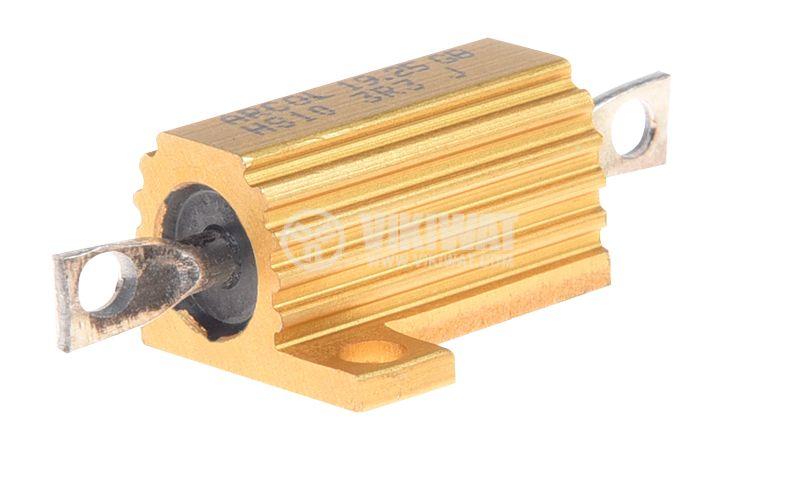 Резистор HS10-3R3J 3.3Ohm 10W ±5% жичен с радиатор - 1