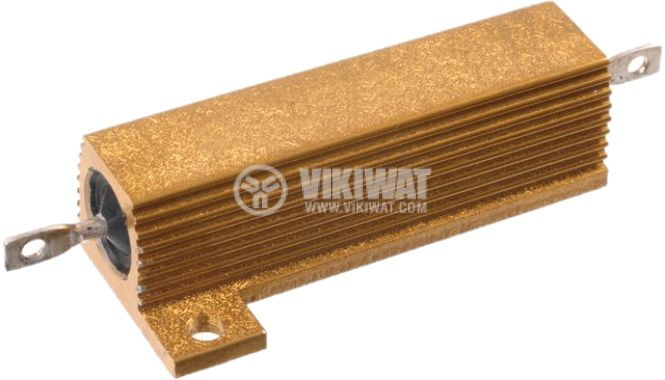 Резистор HS50-100RJ 100Ohm 50W ±5% жичен с радиатор