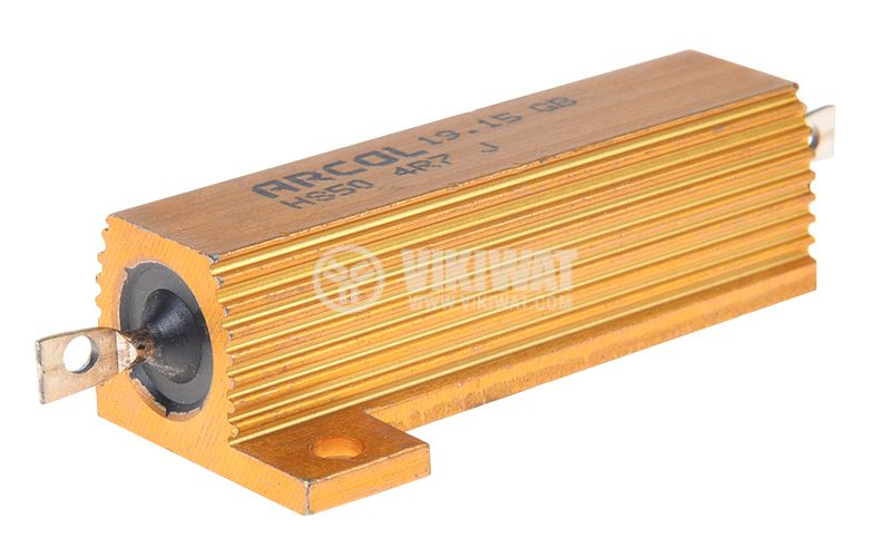 Резистор HS50-4R7J 4.7Ohm 50W ±5% жичен с радиатор - 1