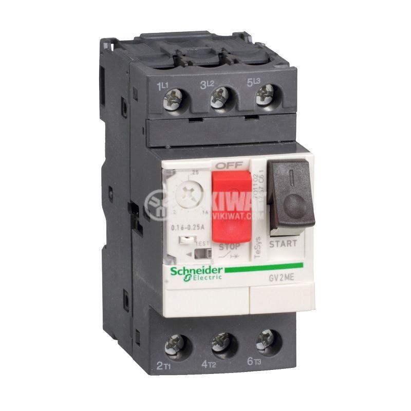 Моторна термично-токова защита, GV2ME04AP, трифазна, 0.4 - 0.63A