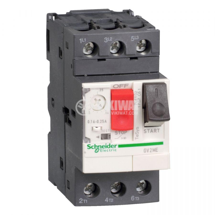 Моторна термо-магнитна защита GV2ME14AP трифазна 6~10A 230~690V