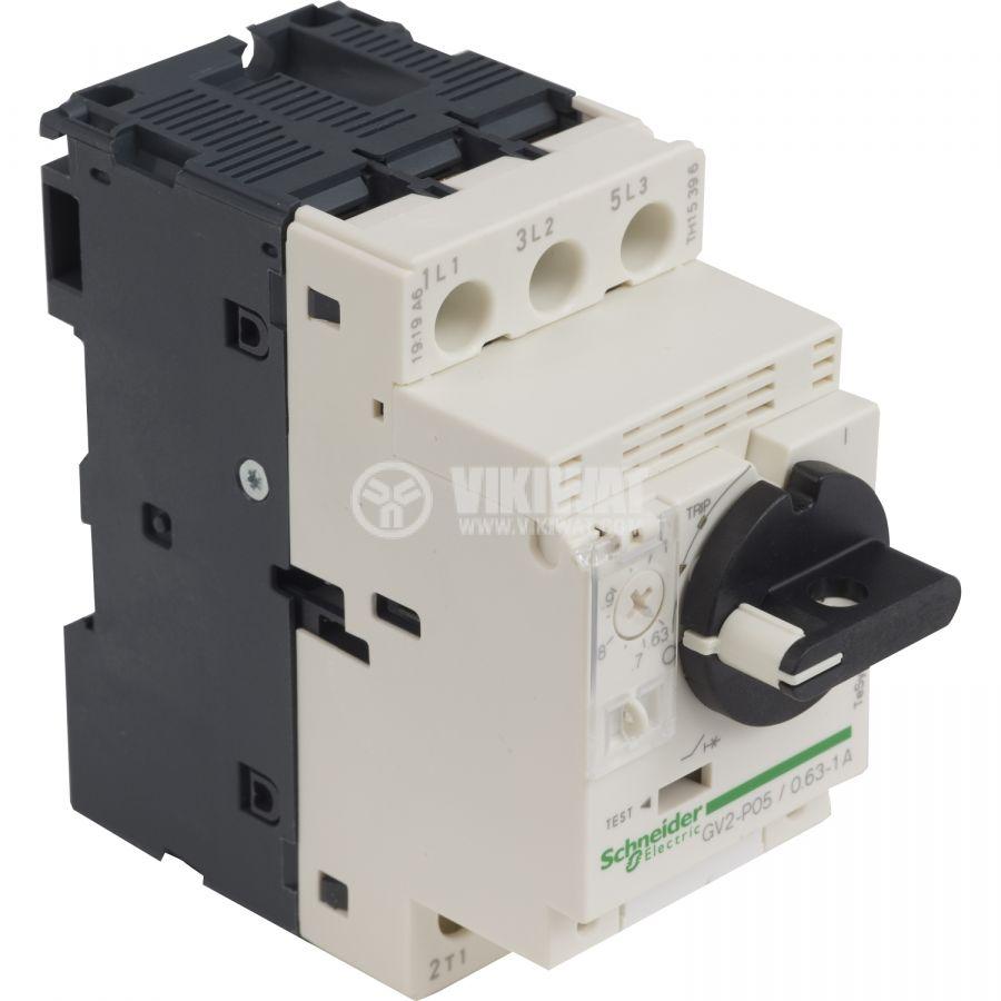 Моторeн термично-токов прекъсвач GV2P05 трифазeн 0.63~1A 230~690V