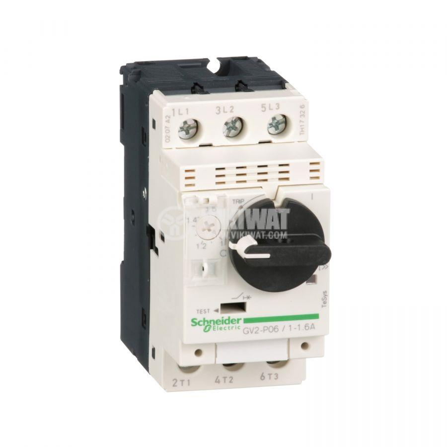 Моторeн термично-токов прекъсвач GV2P06 трифазeн 1~1.6A 230~690V