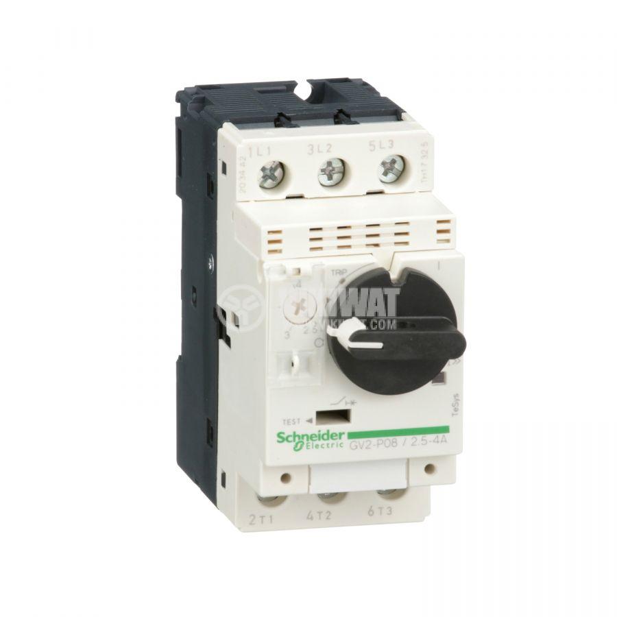 Моторeн термично-токов прекъсвач GV2P08 трифазeн 2.5~4A 230~690V