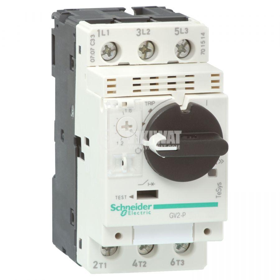 Моторeн термично-токов прекъсвач GV2P10 трифазeн 4~6.3A 230~690V