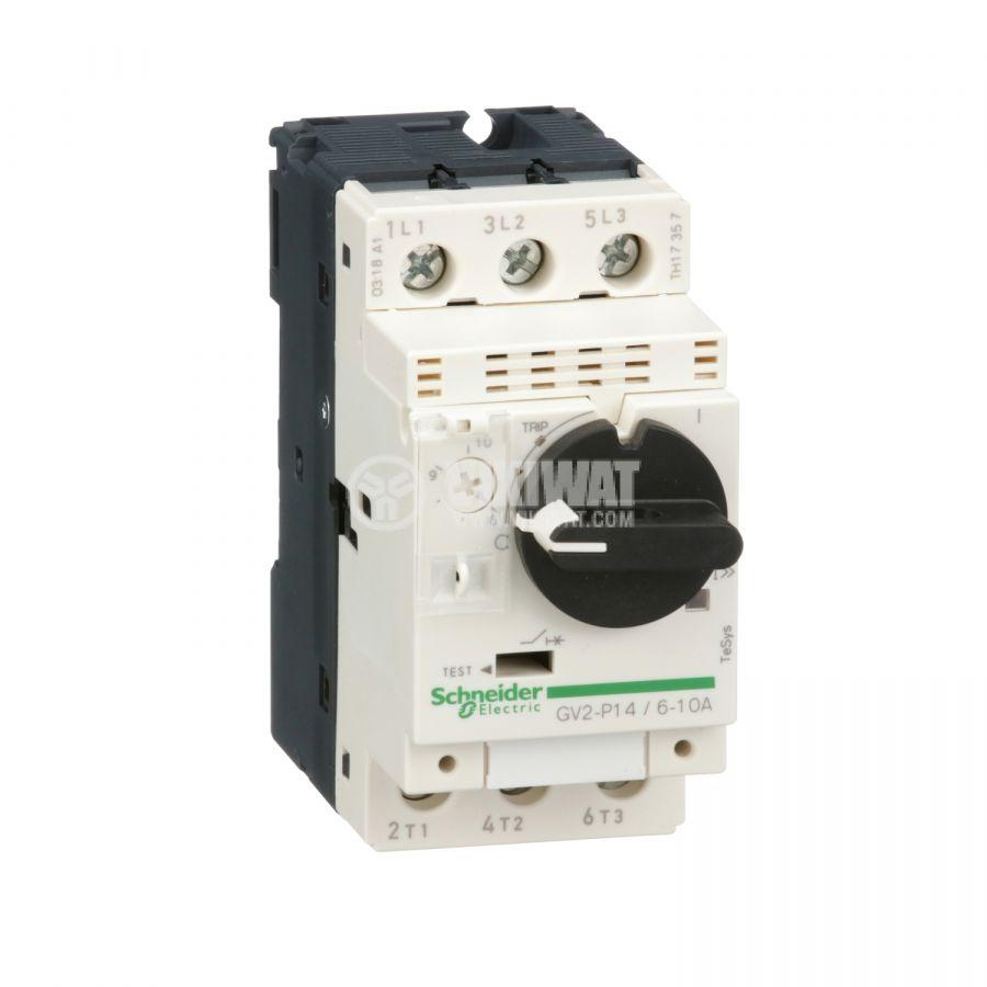 Моторeн термично-токов прекъсвач GV2P14 трифазeн 6~10A 230~690V