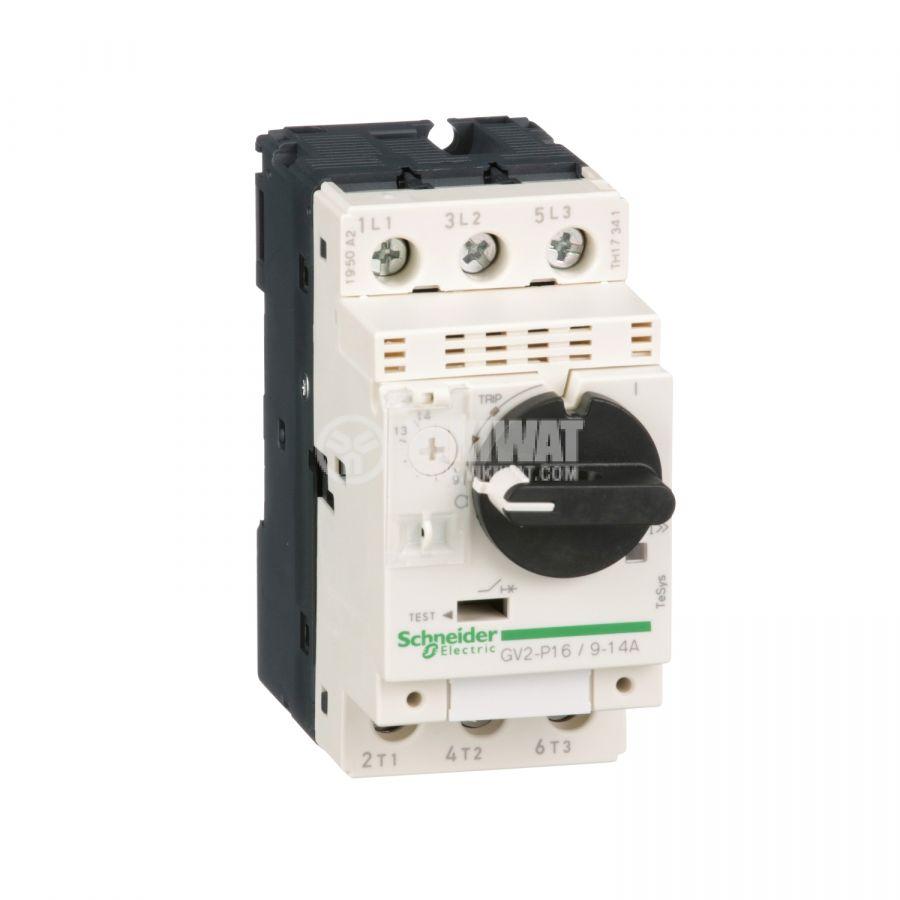 Моторeн термично-токов прекъсвач GV2P16 трифазeн 9~14A 230~690V