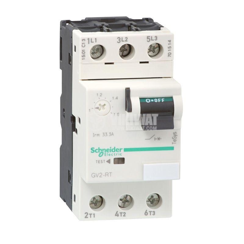 Моторна термо-магнитна защита GV2RT20 трифазна 13~18A 230~690V