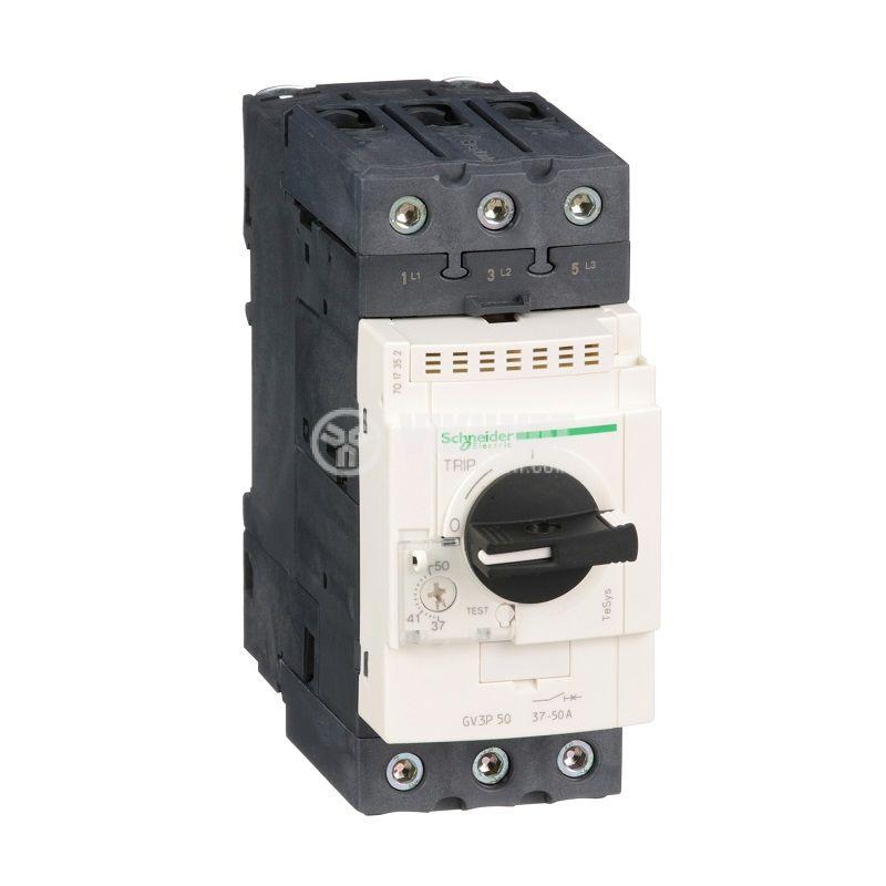 Моторна термично-магнитна защита GV3P50 трифазна 37~50A 230~690V