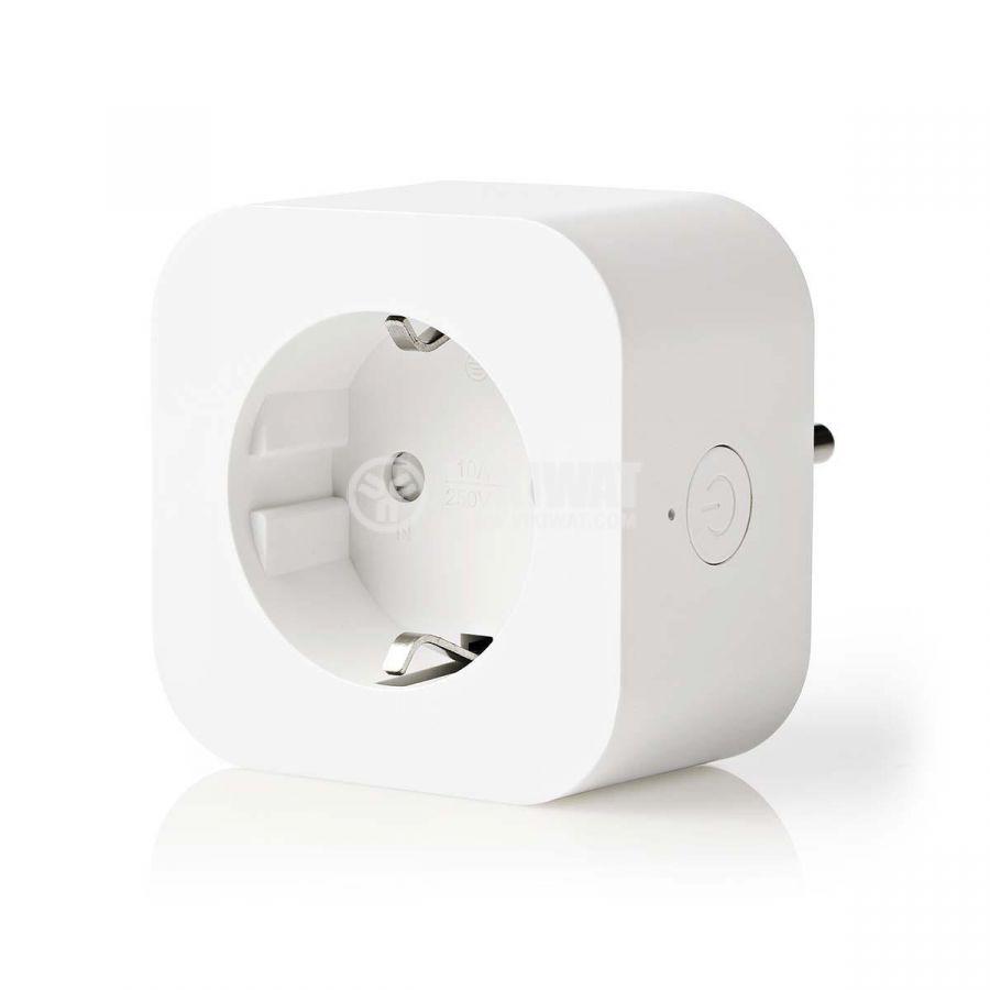 Wi-Fi smart контакт, 10A, 230VAC, бял, WIFIP130FWT - 1
