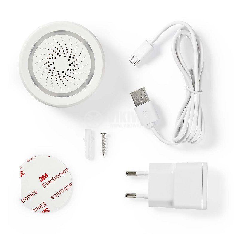Wi-Fi smart сирена, WIFISI10CWT, 85dB, 5VDC - 5