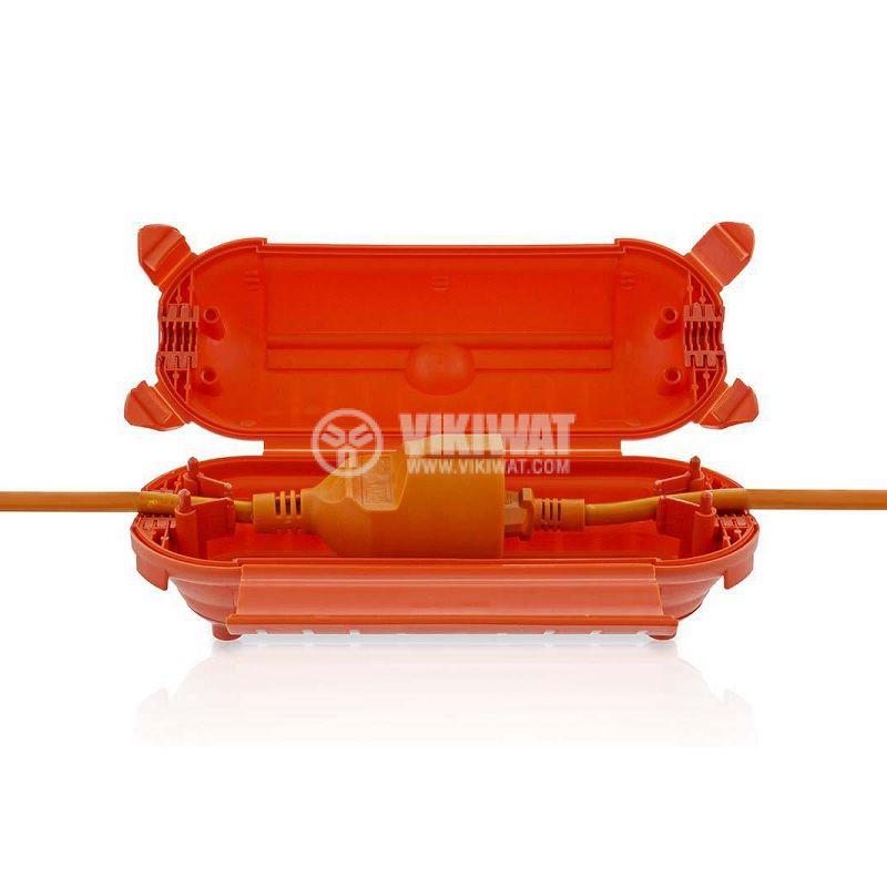 Кутия за предпазване на съединения, оранжева, IP44, PEBX01OG - 1