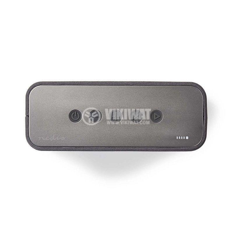 Bluetooth тонколона NEDIS, SPBT2003GY, портативна, 30W, 4000mAh - 2