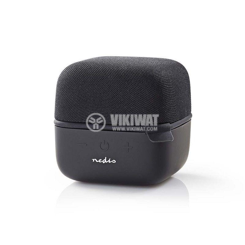 Bluetooth тонколона NEDIS, SPBT1000BK, портативна, 5W, 800mAh - 1