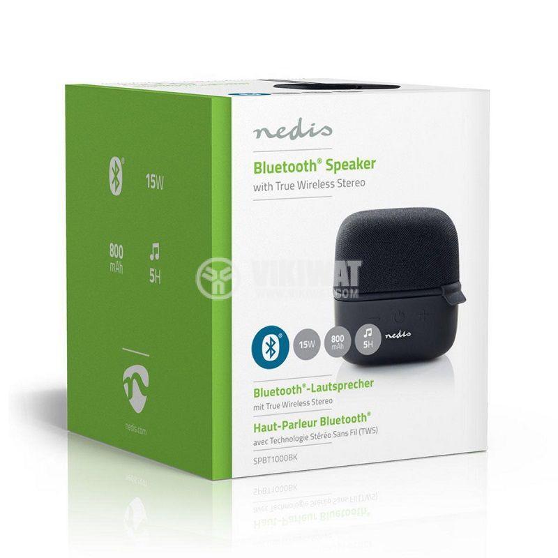 Bluetooth тонколона NEDIS, SPBT1000BK, портативна, 5W, 800mAh - 5