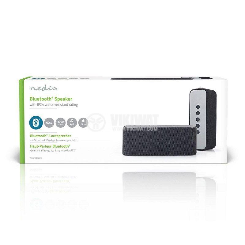 Водоустойчива Bluetooth тонколона NEDIS, SPBT2002BK - 4