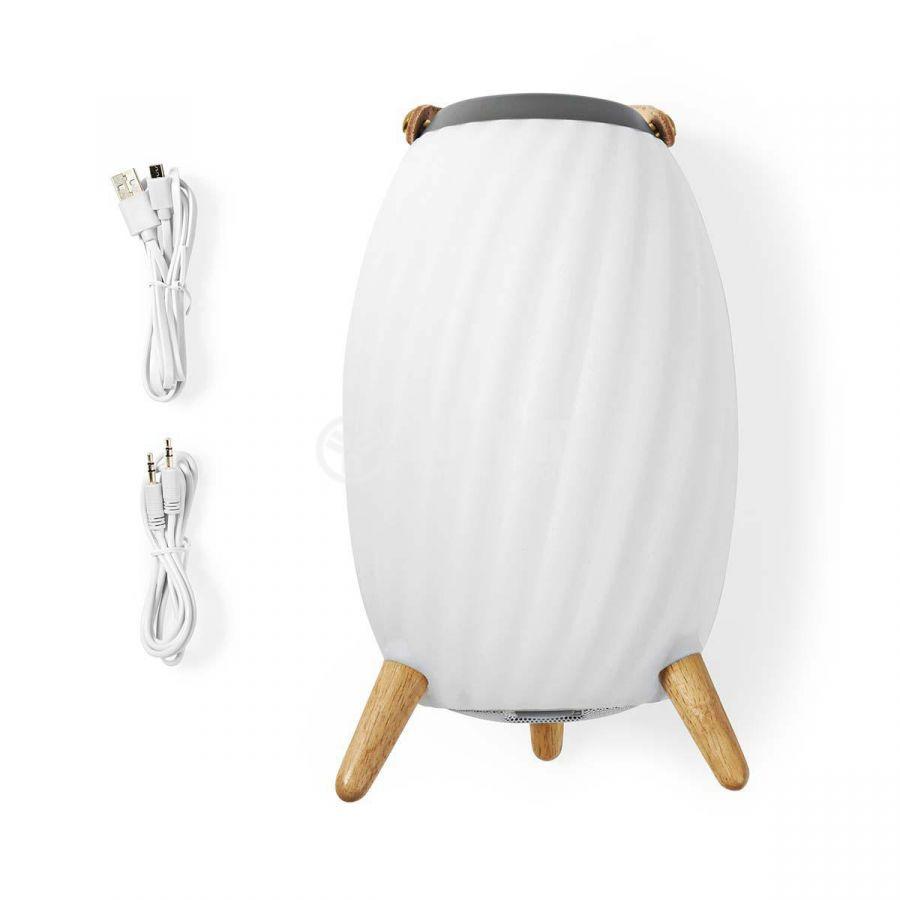 Светеща Bluetooth тонколона NEDIS, SPBT35810WT - 6