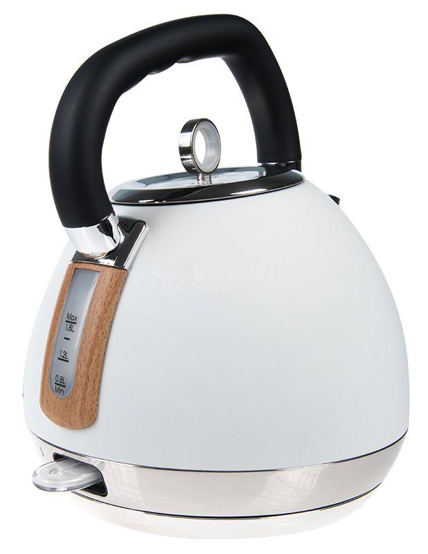 Електрическа кана, 1.8l, 2200W, 230VAC, тип чайник, KAWK520EWT - 2