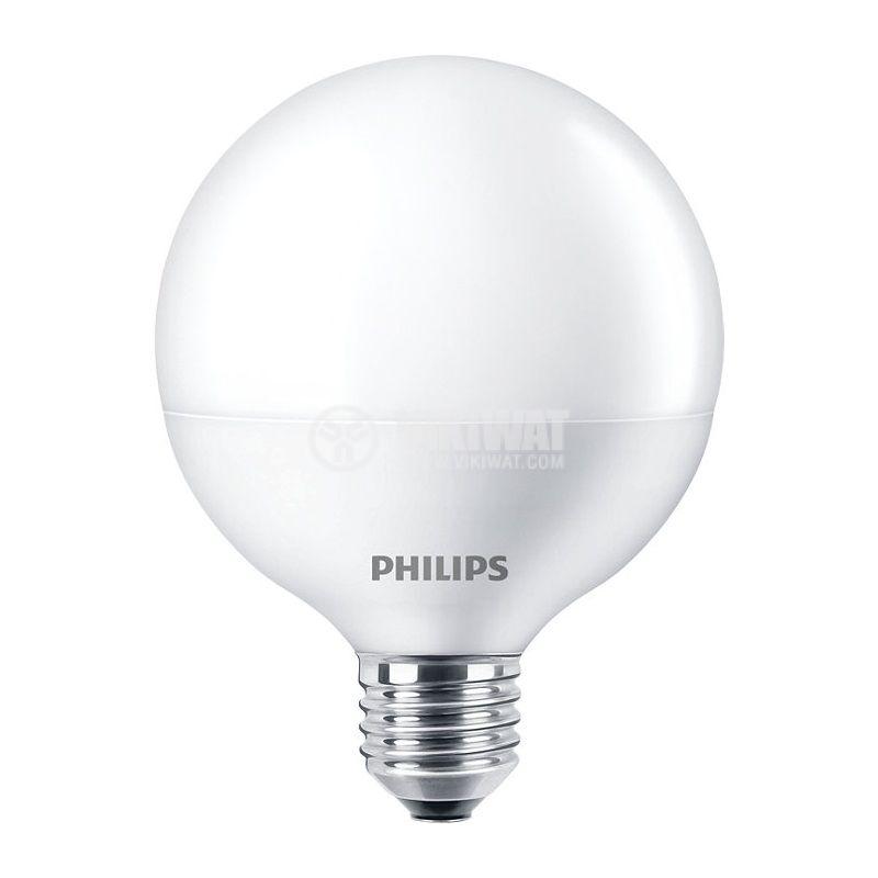 LED лампа LED Globe, 15W, E27, 220VAC, 1521lm, 2700K, топлo бяла - 1
