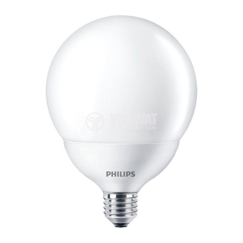 LED лампа LED Globe, 18W, E27, 220VAC, 2000lm, 2700K, топлo бял - 1