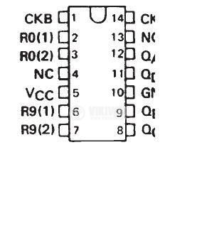 Интегрална схема 74LS93, TTL серия LS, 4bit, binary counter, DIP14 - 2