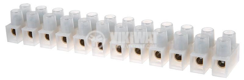 Лустер клема, пластмаса, 12-полюсна, 6mm2, 15A, 660V - 1
