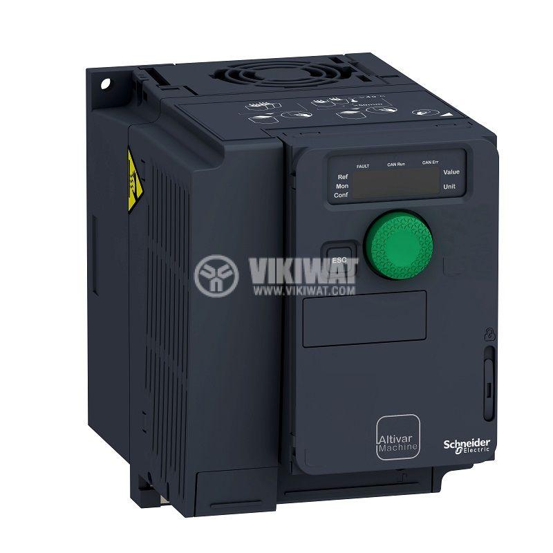 Честотен инвертор 0.37kW, 380~500VAC, 400VAC, ATV320U04N4C - 1