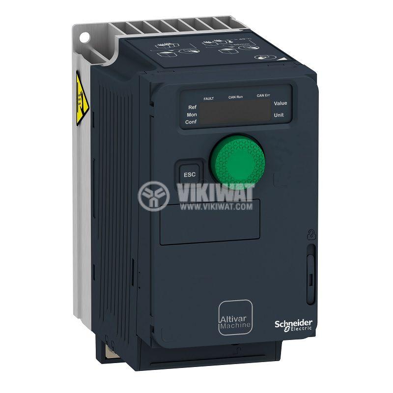 Честотен инвертор 0.55kW, 200~240VAC, 400VAC, ATV320U06M2C