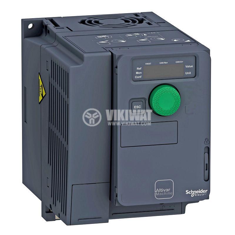 Честотен инвертор 0.55kW, 380~500VAC, 400VAC, ATV320U06N4C - 1
