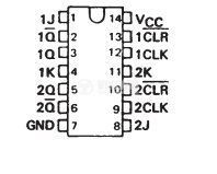 Интегрална схема 74LS107, TTL серия LS, DUAL J-K FLIP-FLOPS WITH CLEAR, DIP14 - 2