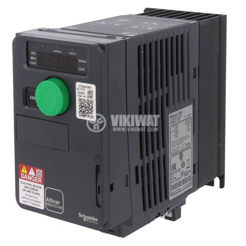 Честотен инвертор 0.75kW, 200~240VAC, 400VAC, ATV320U07M2C - 1