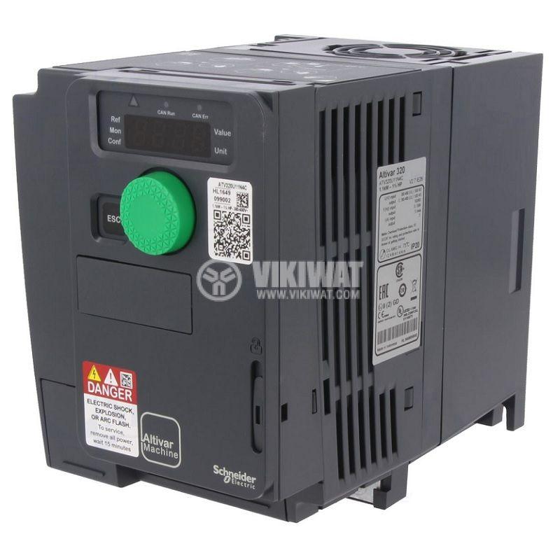 Честотен инвертор 1.5kW, 200~240VAC, 400VAC, ATV320U15M2C  - 1