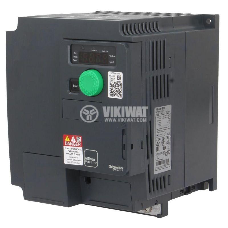 Честотен инвертор 2.2kW, 380~500VAC, 400VAC, ATV320U22N4C - 1