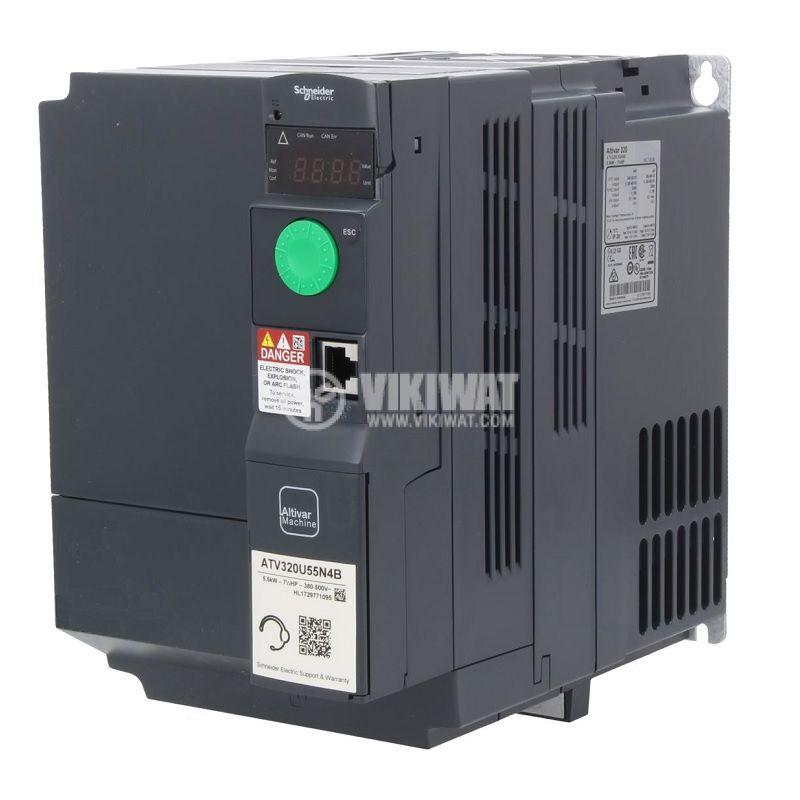 Честотен инвертор 5.5kW, 380~500VAC, 400VAC, ATV320U55N4B - 1
