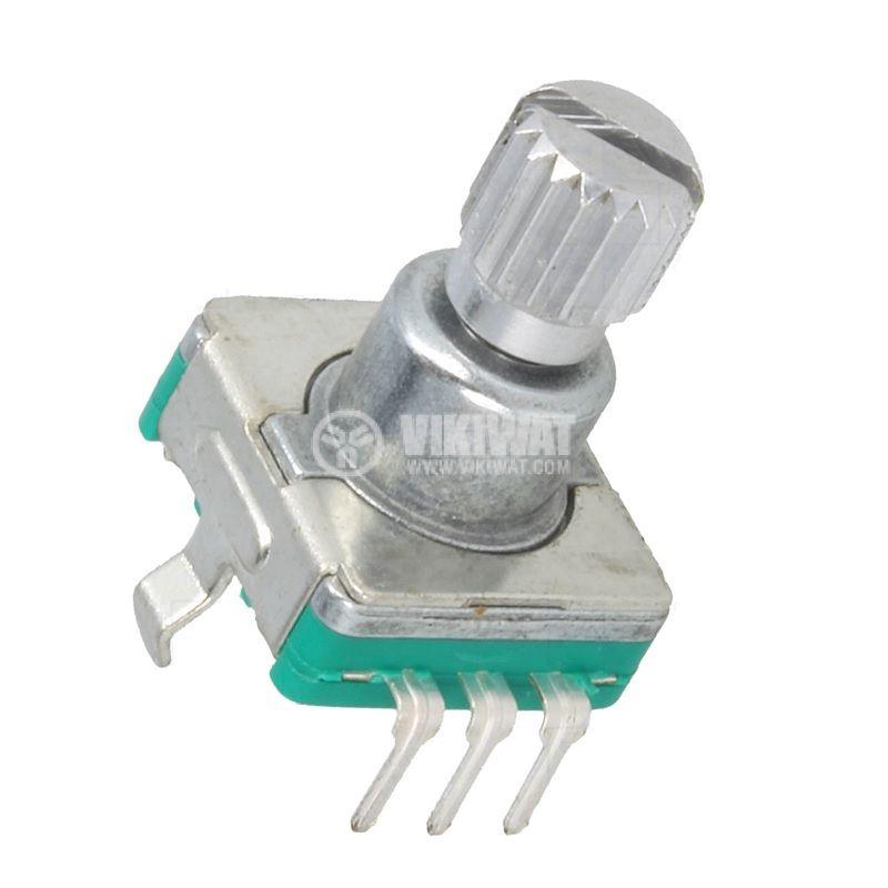 Хеликоидален потенциометър EC11E12-15P30C-SW, линеен, 5VDC, THT - 1