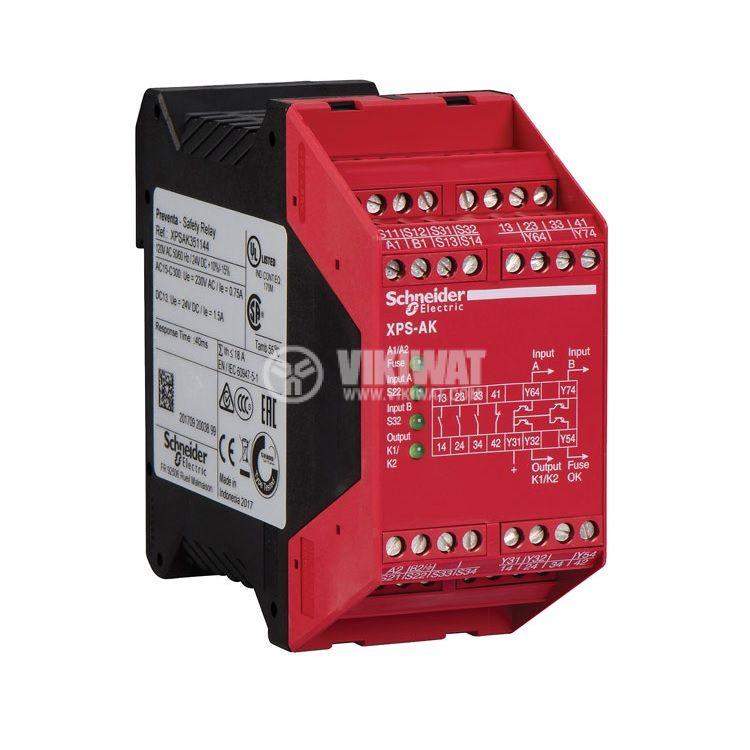Модул за безопасност XPSAK371144, 230VAC, 24VDC, DIN