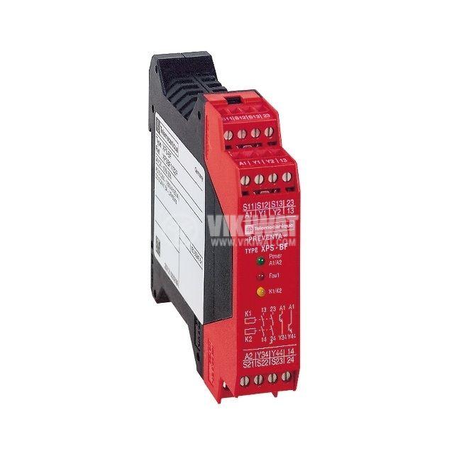 Модул за безопасност XPSBF1132, 24VDC, DIN, старт с две ръце