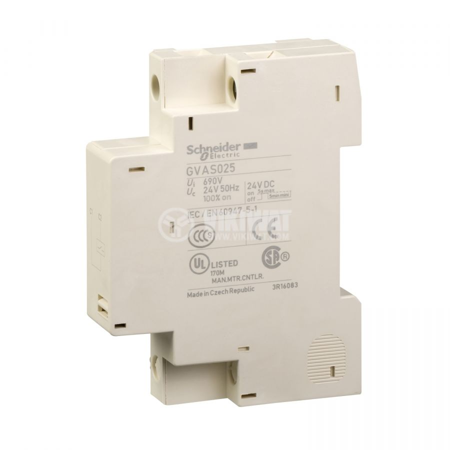 Напреженов изключвател GVAS025 страничен 24VAC 690VAC