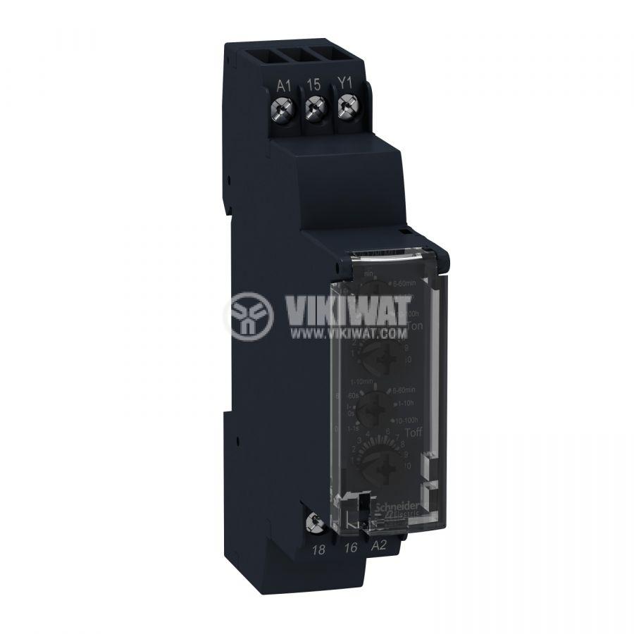 Реле за време RE17RLMU 24VDC 24~240VAC 0.1s-100h NO+NC 8A/250VAC